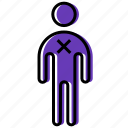 aim, delete, human, man, people, person, target icon