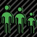 family, figure, people, stick, stickman icon