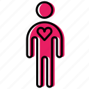 heart, human, love, man, people, person, valentine icon