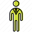 business, businessman, human, man, people, professor, teacher icon