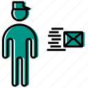 human, mail, man, people, person, postman, premise icon