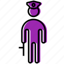 cop, human, man, people, person, police, policeman icon