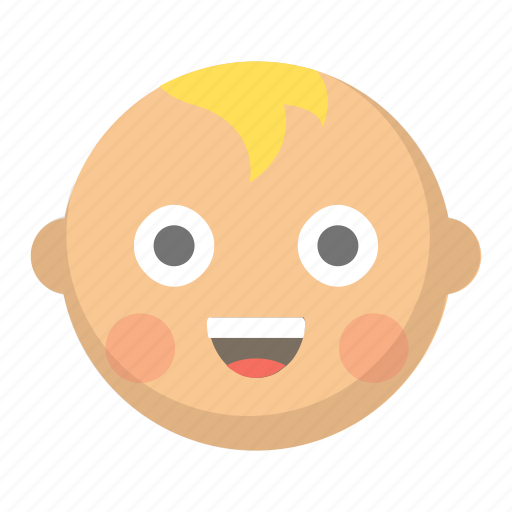 baby, child, cute, emoji, face, infant, toddler icon