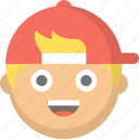 boy, bro, child, emoji, face, kid, teen icon