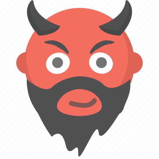bad, devil, evil, halloween, horns, satan, temptation icon