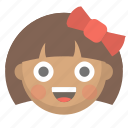 child, cute, emoji, face, girl, kid, little