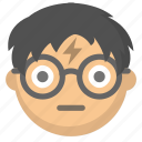 emoji, face, geek, glasses, harry, nerd, potter icon