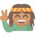 good, hippy, love, peace, rastafarian, vibes, zen icon