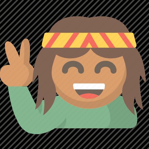 good, hippy, love, peace, rastafarian, vibes, zen icon