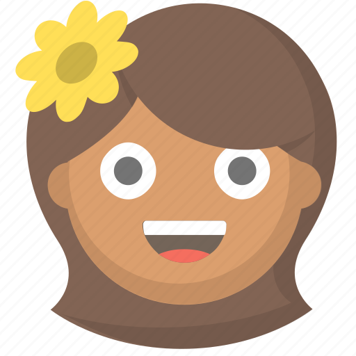 chick, cute, flower, girl, hippy, pretty, woman icon
