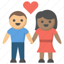 couple, date, dating, hands, holding, love, relationship icon