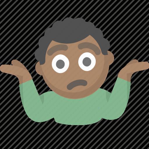confused emoji guy i dont know idk person shrug icon