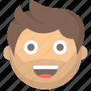 dude, emoji, face, guy, happy, man, person