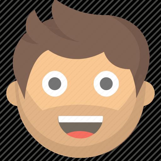 dude, emoji, face, guy, happy, man, person icon