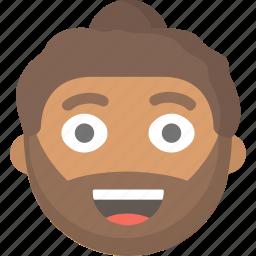 beard, bun, dude, guy, hipster, man, trendy icon