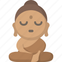 meditate, meditation, monk, peace, tranquility, yoga, zen icon