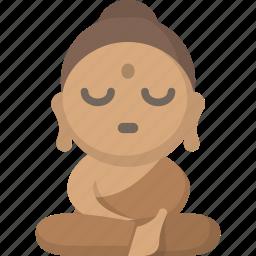 meditate, meditation, monk, peace, tranquility, yoga, zen icon