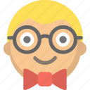 emoji, face, geek, glasses, nerd, person, study