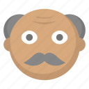 grandfather, grandpa, grey, hair, man, old, person icon