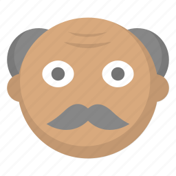 grandfather, grandpa, grey, hair, man, old, person icon
