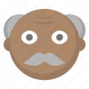 elderly, grandfather, grandpa, grey, hair, man, old icon