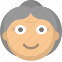 elderly, grandma, grandmother, gray, hair, old, woman icon