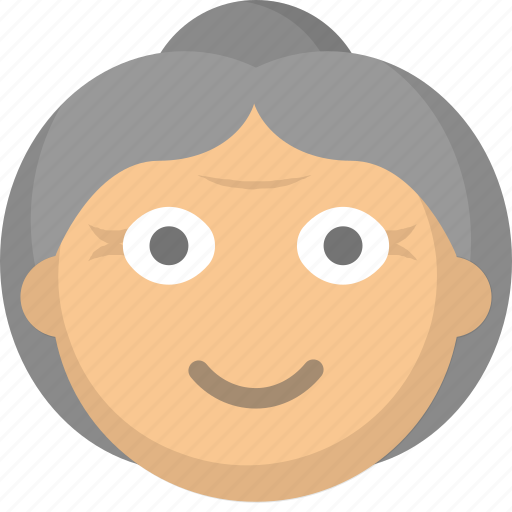 elderly, grandma, grandmother, gray, hair, old, woman icon