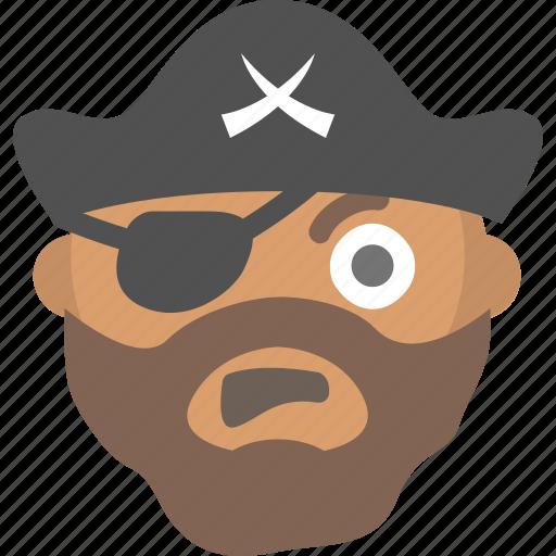 arrr, emoji, eye, face, patch, pirate, somali icon