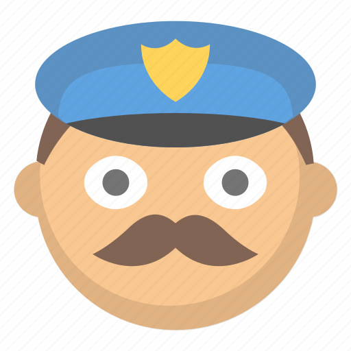 cop, face, man, officer, pig, police, public safety icon