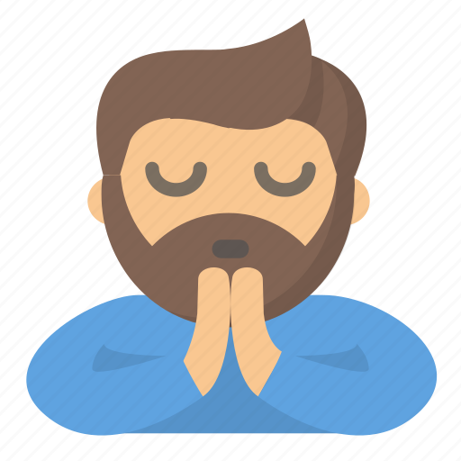 guy, meditate, person, pray, prayer, praying, zen icon