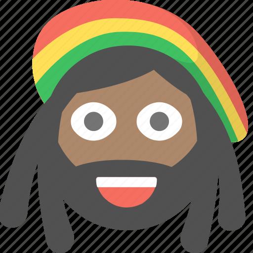 dreadlocks, ganja, jamaican, marijuana, rasta, rastafarian icon