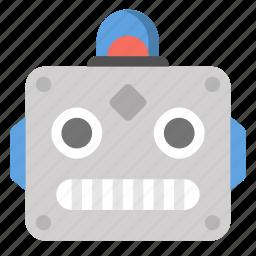 future, head, robot, robotics, tech, technology icon