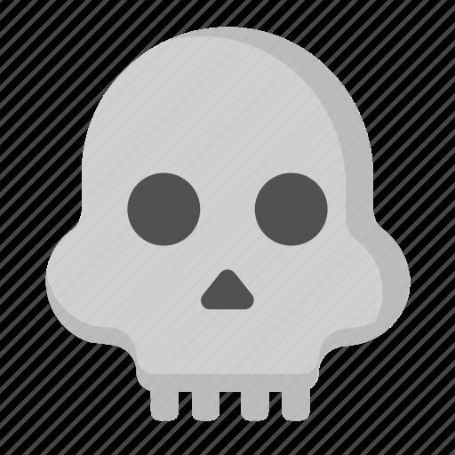 crossbones, dead, death, halloween, scary, skull icon