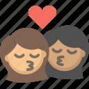 gay, kiss, kissing, lesbian, love, women