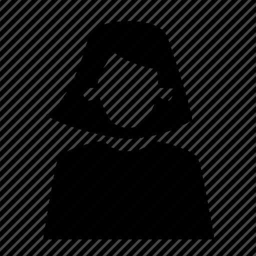 female, girl, human, people, person, user, woman, women icon