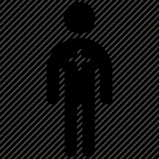 add, figure, human, male, man, stick, stickman icon