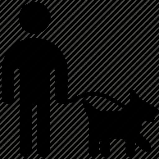 cynologist, dog, human, male, man, stick, stickman icon