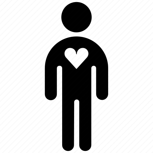 figure, heart, human, love, man, stick, stickman icon