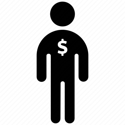business, figure, finance, man, people, stick, stickman icon