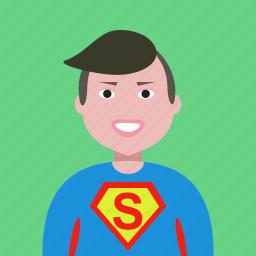 account, admin, administrator, avatar, hero, man, profile, superman icon