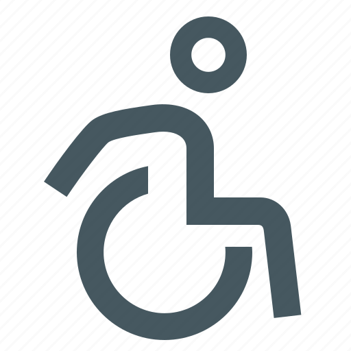 disabled, gizmo, people, simple, wheelchair icon