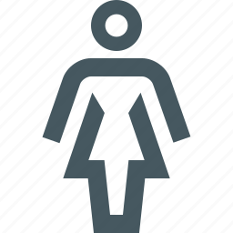 female, gizmo, people, simple, toilet sign, woman icon