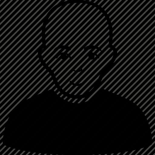avatar, bald man, bandit, boy, human, patient, sick icon