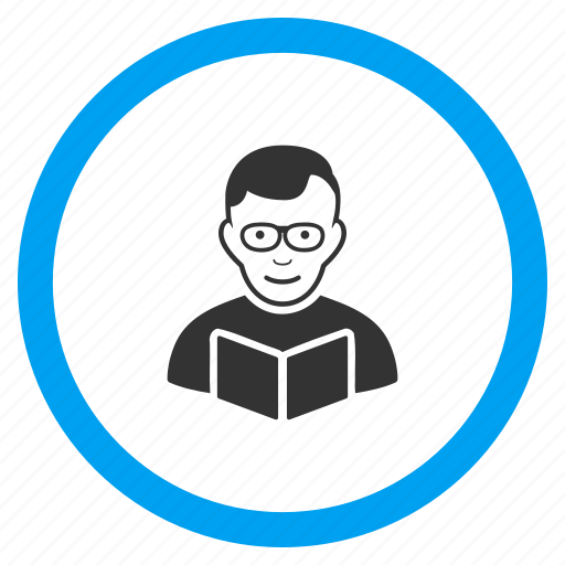 education, learning, professor, read book, reader, student, teacher icon