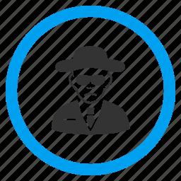 cia spy, detective, fbi agent, gentleman, person, secret service, security man icon