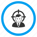 accident, action, object, objective, target person, terror aim, victim icon