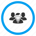 community, company, management, people, staff, team, user group icon