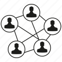 connect, link, network, people, social media, social network icon