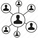 connection, link, network, people, share, social network icon