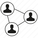 connection, link, network, people, social media, social network icon